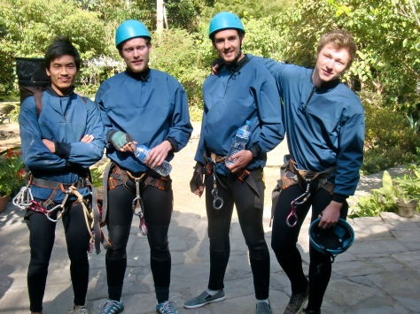Ready for the Canyoning with our guide An Ill