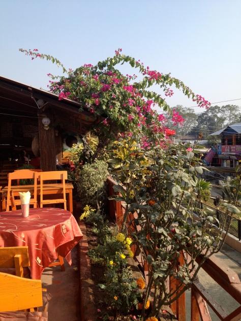 A nice local rooftop-café