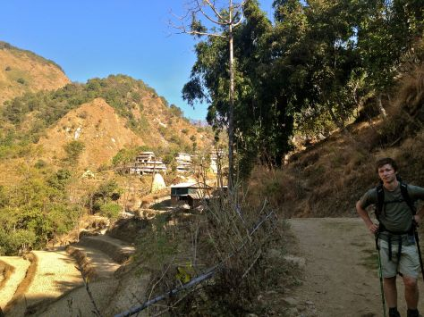 On the trail to Bahundanda