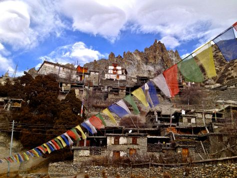 We climbed up to yhis Gompa (monastary) which is 500 years old.