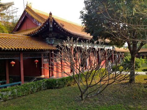 Chinese monastary with an interesting tree