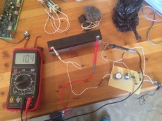 Everything hooked up with voltmeter
