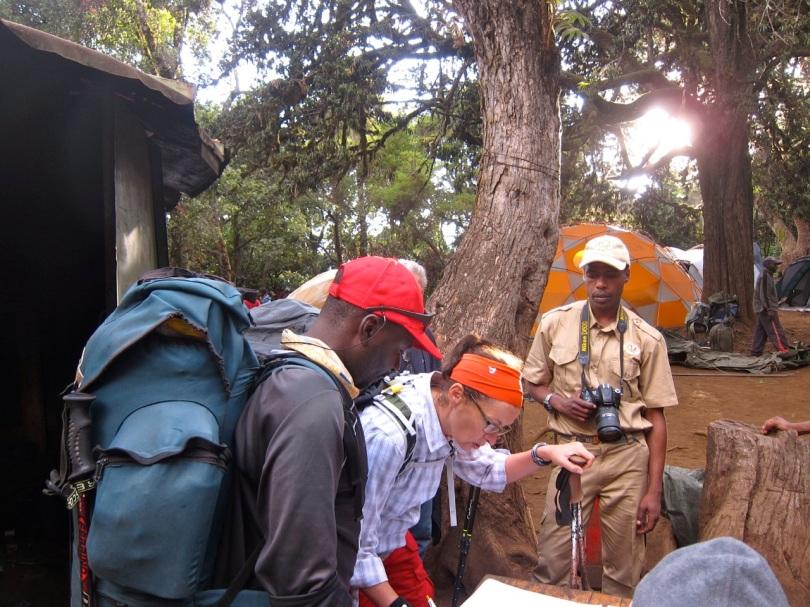 Mti Mkubwa, first day of Lemosho route Kilimanjaro