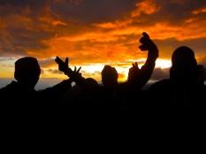 kilimanjaro, sunset, davidkvcs david, porters, africa, tanzania august 2014