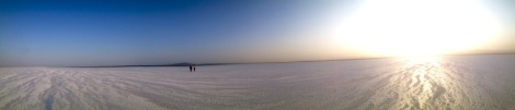 Salt lake danakil desert ethiopia
