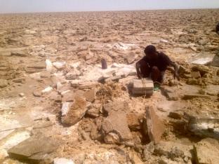Danakil Depression Salt miners