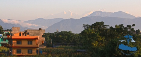 Morning view from the roof of the Baniya Family's house