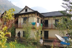 A traditional Nepali house in the country. We would stay here for the night.