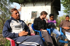 Mr. Bharat Sharma, David Kovacs and Saujan Shrestha