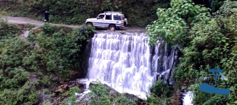 We had to cross numerous waterfalls.