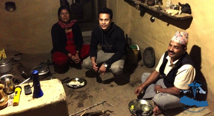 We had dinner in this Kitchen in Rukumkot.