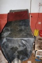 Labour bed in Salle Bajjar District Hospital - in use.