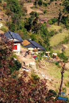 Local Rukum mountain side houses