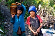 Local kids working