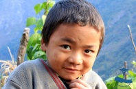 Local kid in Bhattechaur, Rukum, Nepal.