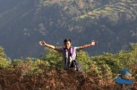 Dr. Saujan Shrestha on the mountain side