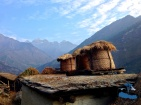 Storing crops on the rooftop in mountain views
