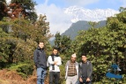 Myself, Mr. Chandra Malla, Justin Jung Malla and Rajkumar Silwal at the viewpoint out side Bhattechaur
