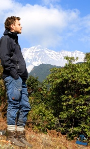 The famous Himalayan Rhododendron Incredible Rukum Mountain range (Dhaulagiri) , David Kovacs