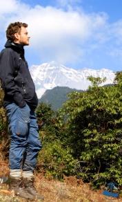 The famous Himalayan Rhododendron Incredible Rukum Mountain range (Dhaulagiri) , David Kovacs