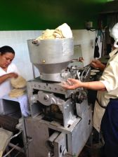 The Taco machine at the kitchen that produces tacos for 1500 meals a day #1