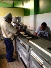 The Taco machine at the kitchen that produces tacos for 1500 meals a day #2