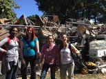 """Broken equipment in the equipment """"junk yard"""" with the EWH 2014/15 WI Roosevelt group"""
