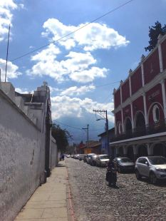 In Antigua there's a Volcano at the end of the street!