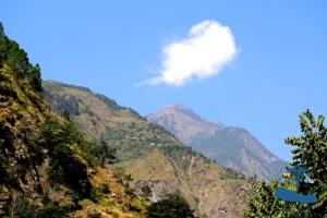 Himilayas and blue skies, Rukum Nepal