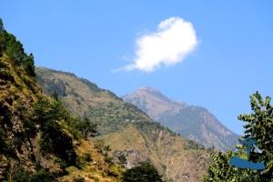 Himilayas and blue skies, Rukum Nepal