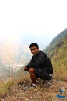 Saujan as mountain man #2