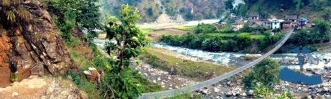 Bridge crossing Bheri river in the beginning of our journey