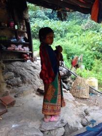 Local girl drinking tea