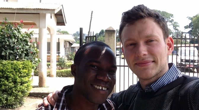 Selfie with Sharif at Mount Meru Hospital, Arusha, Tanzania